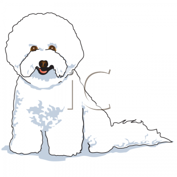 Cartoon Bichon Frise Pup