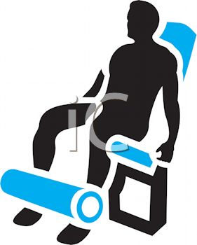 Royalty Free Clipart Image Silhouette Of A Man Using Leg Machine At Gym