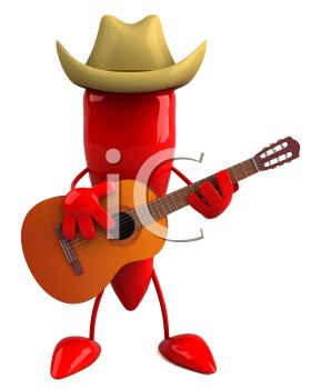 Pleasant Royalty Free Clipart Image 3D Chili Pepper Playing Guitar Download Free Architecture Designs Scobabritishbridgeorg