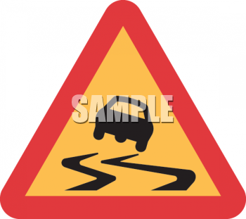 Road Sign-Slippery When Wet