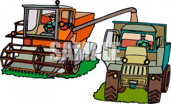Harvesting Machines on a Farm