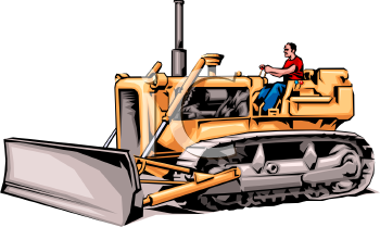 Heavy Equipment - Man Operating a Bulldozer