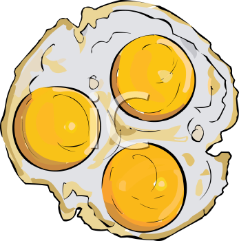 fried food three fried eggs royalty free clip art illustration rh clipartguide com