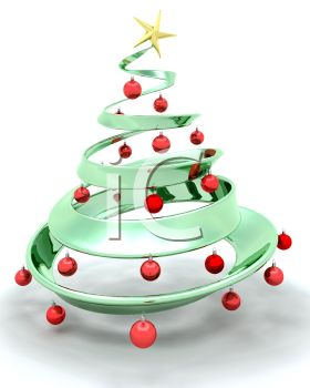 Stylized 3D Christmas Tree with Ornaments and a Star