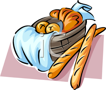 bread loaves in a basket royalty free clip art illustration rh clipartguide com clip art breads and rolls clip art bread slice