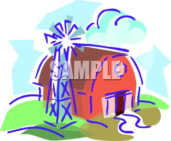 Barn with a Windmill