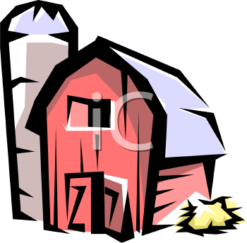 barn with a silo royalty free clip art illustration rh clipartguide com  outhouse clipart free