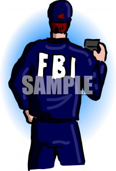 FBI Agent Showing His Badge