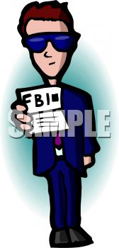 FBI Agent Showing His Identification