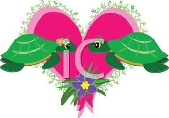 Whimsical Turtles in Love