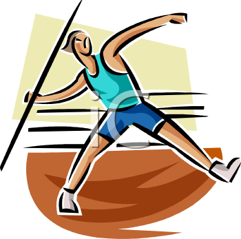 Track and Field Athlete Javelin Thrower