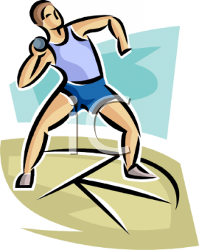track and field athlete preparing to throw the shot put royalty rh clipartguide com shot put and discus clipart