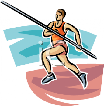 track and field pole vaulter running with the pole royalty free rh clipartguide com Track and Field Shoes Clip Art Running Shoes Clip Art