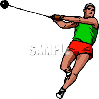 Track and Field Event-Guy Throwing the Hammer