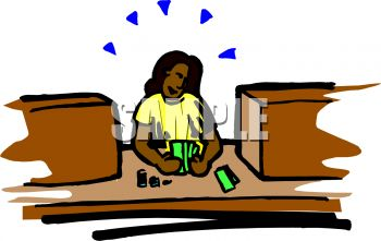 african american bank teller counting money royalty free clip art rh clipartguide com free money clipart for teachers Us Money Clip Art