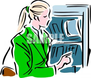 woman taking money out of an atm royalty free clipart image rh clipartguide com clipart atm machine atom clipart