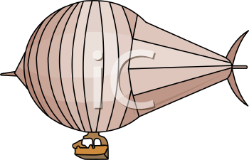 Cartoon of a Blimp
