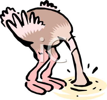 royalty free clipart image ostrich cartoon head buried in the sand