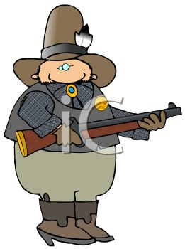 Western Sheriff Holding a Rifle