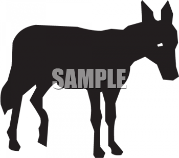 Silhouette of a Donkey