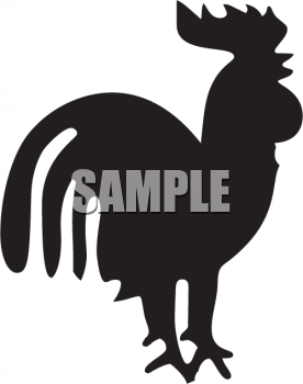 Silhouette of a Rooster