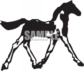 Silhouette of a Filly Icon