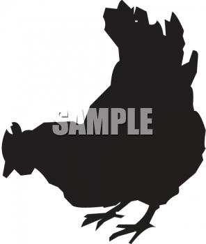 Silhouette of a Hen