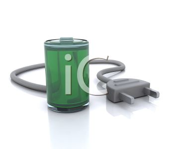 3D Rechargeable Battery Icon
