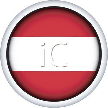 Glossy Button for the Flag of Latvia