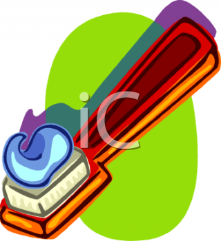 royalty free clip art image cartoon of toothpaste of a red toothbrush rh clipartguide com  free clipart toothbrush and toothpaste