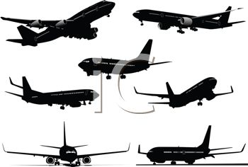 Silhouette Collection of Airplanes