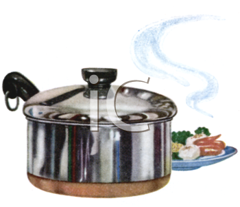 Covered Stainless Sauce Pot