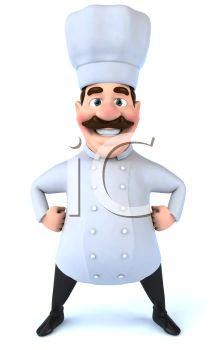 Chubby 3D Chef with a Moustache