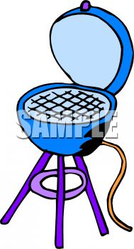 Royalty Free Clip Art Image: Charcoal Grill Cartoon