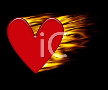 Flaming Heart Background
