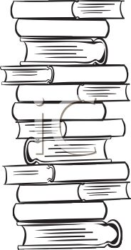 tall stack of books royalty free clip art image rh clipartguide com
