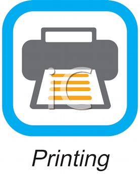 Royalty Free Clip Art Image: Business Icon-Printer