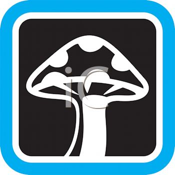 Produce Food Icon for a Spotted Mushroom