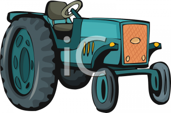 Cartoon of a Farm Tractor