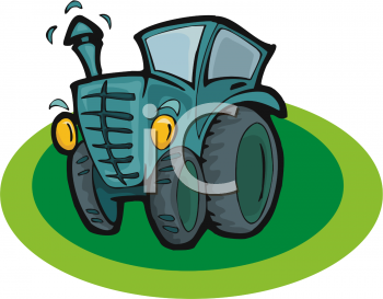 Cartoon of a Cute Tractor