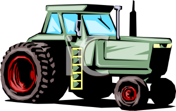 Royalty Free Clip Art Image: Large Size Tractor