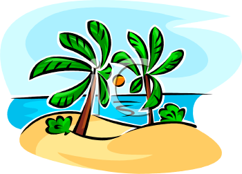 royalty free clipart image tropical island with palm trees rh clipartguide com cartoon tropical island clipart tropical island clipart black and white