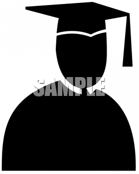 Silhouette of a Man Graduating from Business School
