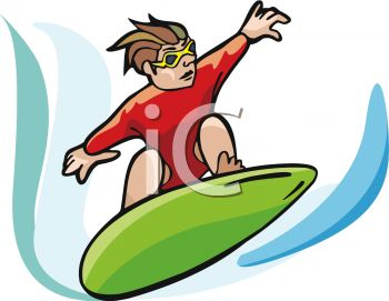 A Man Riding A Surfboard