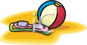 A Beach Ball And Pair Of Goggles