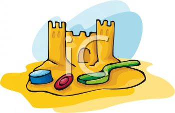royalty free clip art image a sandcastle with beach toys rh clipartguide com sandcastle clipart black and white sand castle clip art images