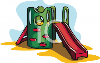 Playground Toys-Elaborate Slide with Climbing Wall