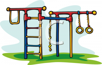 Playground Toys-Jungle Gym with Monkey Bars