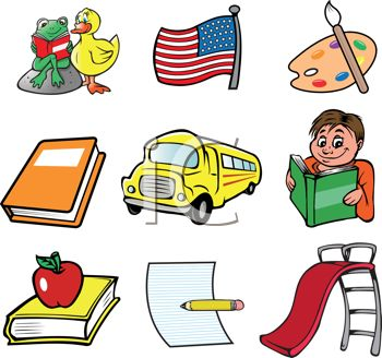 collection of school related icons royalty free clipart image rh clipartguide com Free Birthday Clip Art for Teachers Free Spring Clip Art for Teachers