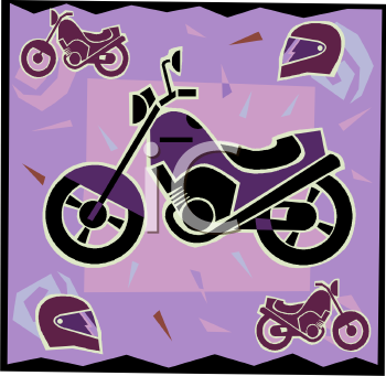 Transportation Icon Design-Motorbike